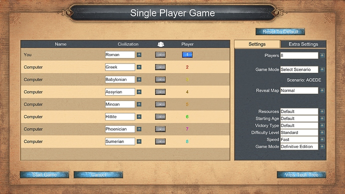 AOEDE_single_player_game_settings