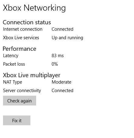Xbox networking diagnostic 2
