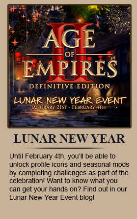Until February 4th, you'll be able to unlock profile icons and seasonal mods by completing challenges as part of the celebration! Want to know what you can get your hands on? Find out in our Lunar New Year Event blog!